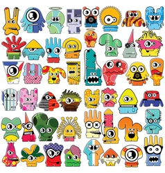 Monsters - set vector