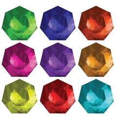 brilliant cut gems vector image