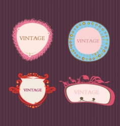 Vintage color frames vector