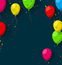 Celebrate background with flat balloons vector