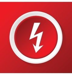 Lightning icon on red vector