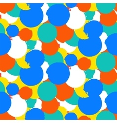 Bold polka dot pattern vector