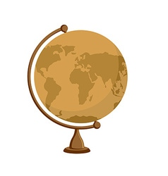 Planet earth - ancient school globe on stand vector image
