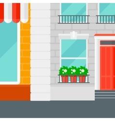 Background of cafe facade vector image