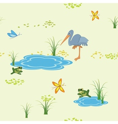 Animals and butterflies vector