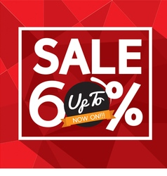 Sale uo to 60 percent banner vector