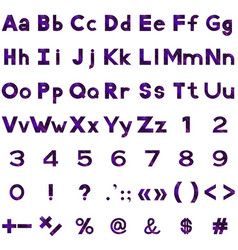 Alphabet numbers and signs set serpentines vector