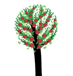 An apple tree vector image vector image