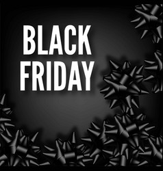 Black friday sale discount promo fashion ribbon vector
