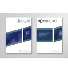Blue annual report business brochure flyer design vector