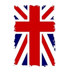 British flag vertical grunge vector