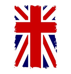 British flag vertical grunge vector image