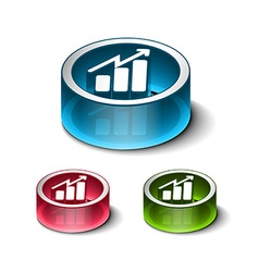 business graph web vector image