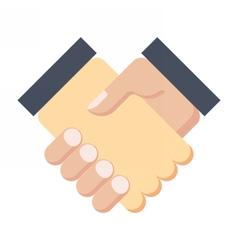 Business partnership meeting vector image