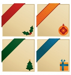 Christmas corners vector image vector image