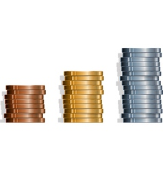 Coin Stacks vector image vector image