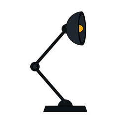 color silhouette cartoon modern style desk lamp vector image