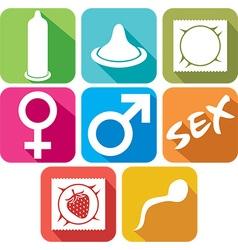 Condom Icon Set vector image vector image