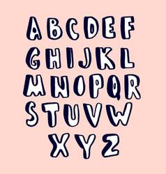 Creative hand drawn alphabet stylish abc made vector