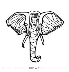Ethnic elephantfor cards designhand drawn vector