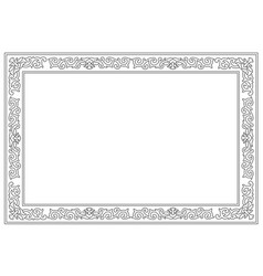 Floral border pattern frame vector
