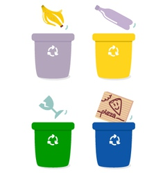 garbage recycle vector image vector image