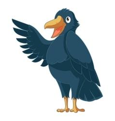 Greeting cartoon Crow vector image vector image