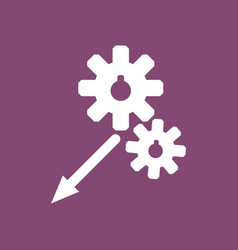 icon two gears vector image
