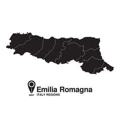 Italy Emilia Romagna map vector image vector image