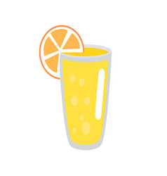 Lemonade with orange slice in glass vector
