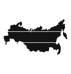 Map of russia icon simple style vector