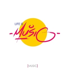 Music hand drawn letteringInk vector image vector image