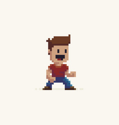 pixel art character vector image vector image