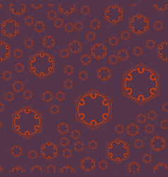 Seamless geometric pattern with violet ornamental vector