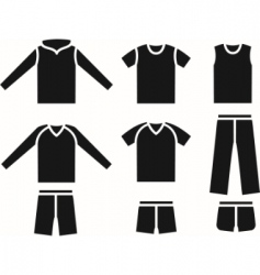 set of the sports wear vector image vector image