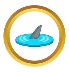 Shark fin icon vector