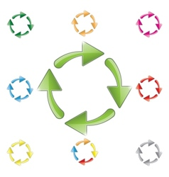 signs of recycling arrows vector image vector image