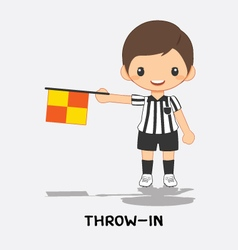 throw in flag signals vector image vector image