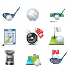 vector golf icon set vector image vector image