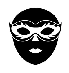 venice mask icon vector image