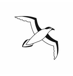 Seagull icon simple style vector