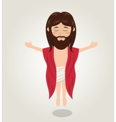 Jesus christ ascension design vector image