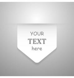Empty sticker vector image