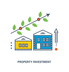 Concept - investments in real estate vector