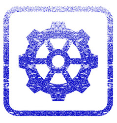 Gear framed textured icon vector