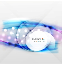 Colorful blurred waves with lights vector