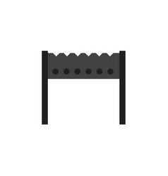 isolated brazier flat icon barbecue vector image