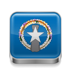 Metal icon of northern mariana islands vector