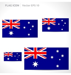 Australia flag template vector