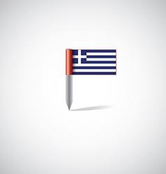 greece flag pin vector image